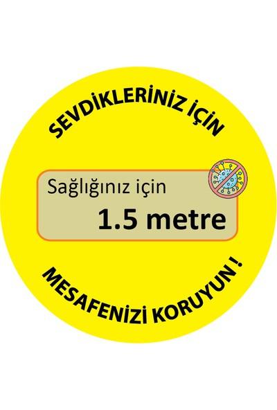 Brn Sosyal Mesafe Uyarı Yer Sticker Sarı 10'lu