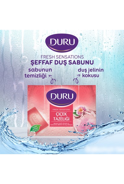 Duru Fresh Sensations Çiçek Tazeliği Duş Sabunu 600 gr
