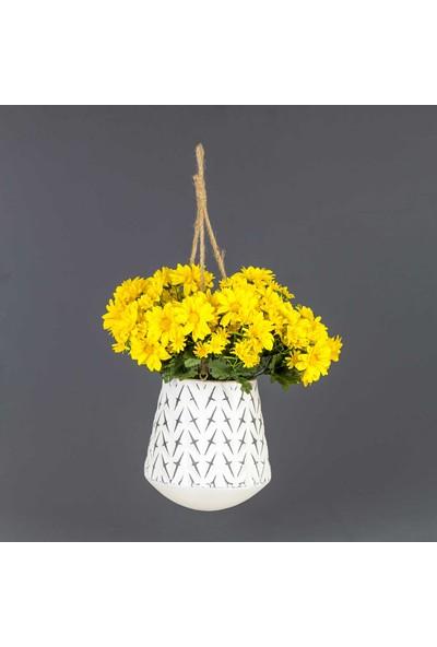 Euro Flora Dekoratif Askılı Çiçeklik Metal 23x25,5 cm