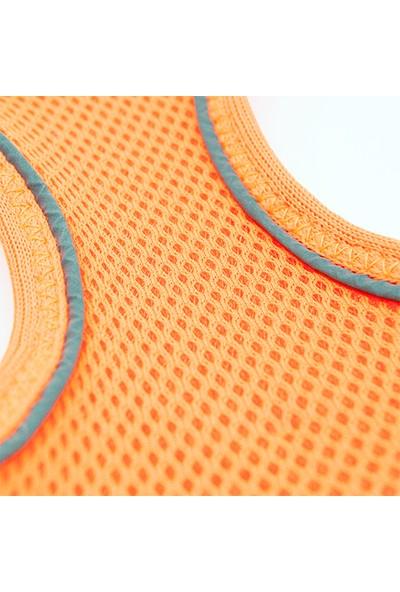 Tailpetz Airmesh Neon-Turuncu Göğüs Tasması L