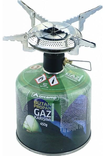 Orcamp Kamp Gaz Kartuşu Siboplu Ocak Set Orgaz 450 gr - KTS450 + K502