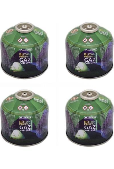 Orgaz Kamp Gaz Kartuşu Siboplu 450 gr 4'lü Paket Orcamp - KTS450