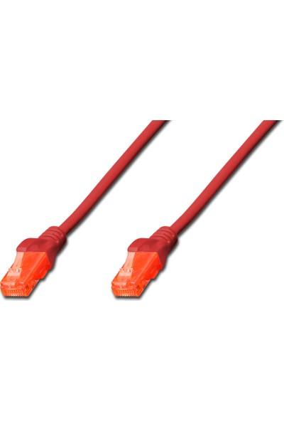 Digitus U-Utp, Cat 6, Awg 26/7 , DK-1614-020-R Patch Kablo Kırmızı - 2 mt