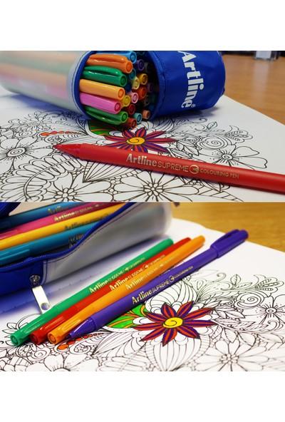 Artline Supreme Colouring Keçe Uçlu Kalem Mavi Tonlar (6 Kalem)