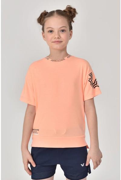 Bilcee Açık Turuncu Unisex Çocuk T-Shirt Gs-8179