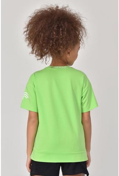 Bilcee Yeşil Unisex Çocuk T-Shirt GS-8179