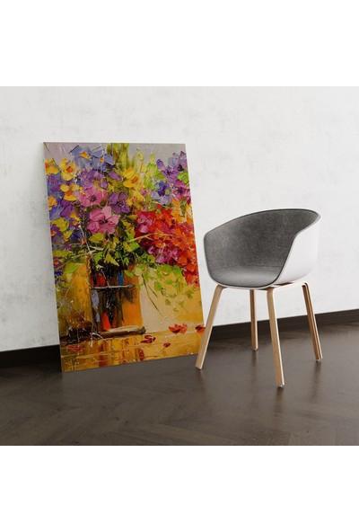 Dekoliya Vazoda Yağlı Boya Çiçek Tablo 30 x 45 cm