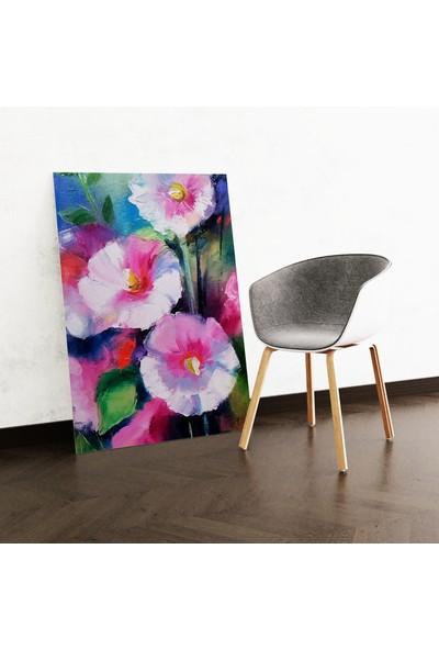 Dekoliya Renkli Yağlı Boya Çiçek Tablo 30 x 45 cm