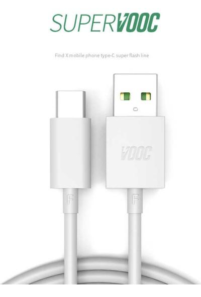 Oppo Super Vooc Şarj Cihazı R116 Adaptör + DL118 Type-C USB Kablo - AK779