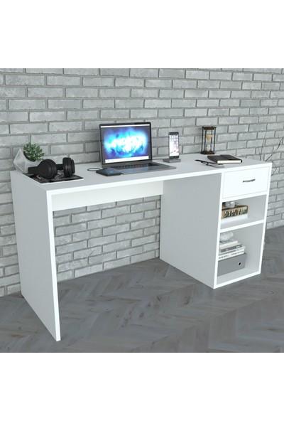 Moonlife Çekmeceli Çalışma Masası Beyaz