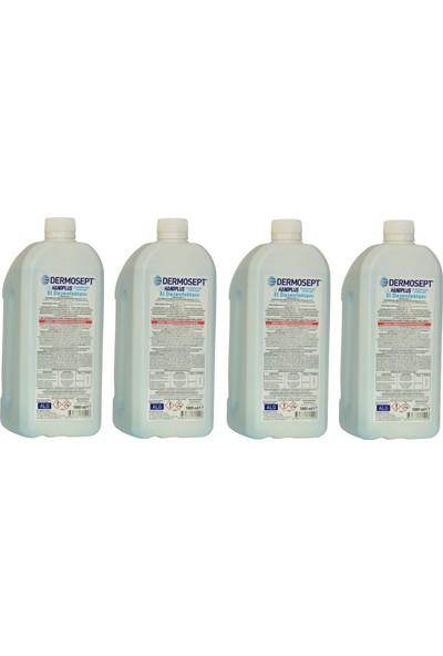 Dermosept Handplus El ve Cilt Dezenfektanı 4x1000 ml
