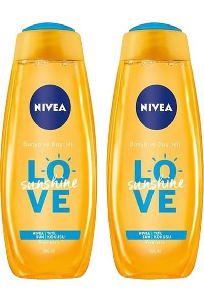 Nivea Love Sunshine Banyo ve Duş Jeli 500 ml x 2 Adet