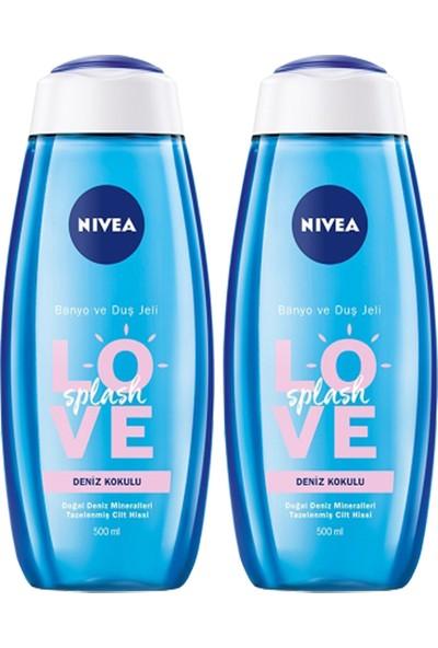 Nivea Love Splash Deniz Kokulu Duş Jeli 500 ml x 2 Adet
