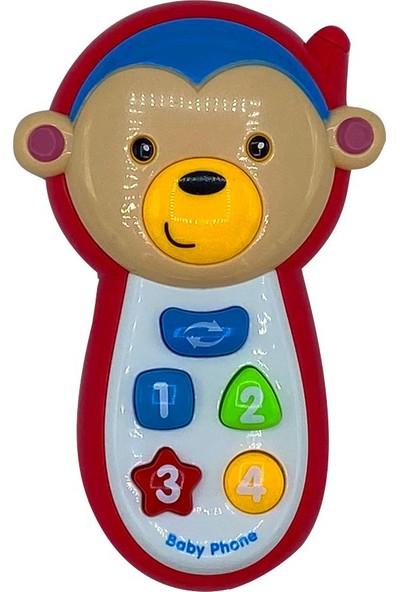 Can-Em Oyuncak Maymun Figürlü Müzikli Telefon