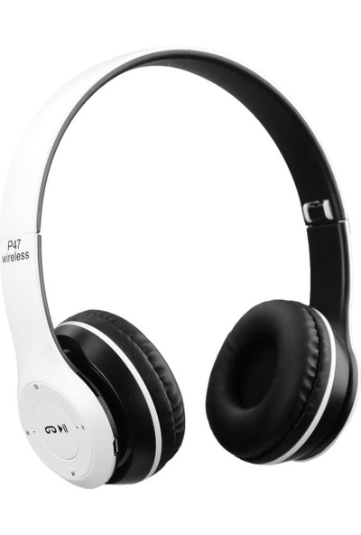 Torima P47 Extra Bass Wireless Bluetooth Kulaklık 5.0+Edr Fm Radyo Beyaz