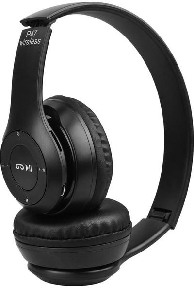 Torima P47 Extra Bass Wireless Bluetooth Kulaklık 5.0+Edr Fm Radyo Siyah