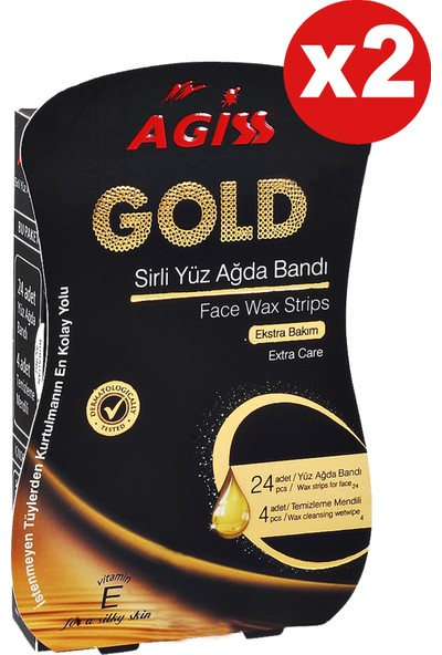 Agiss Yüz Ağda Bandı Gold 28 Lix2 Adet