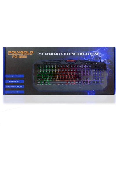 PolyGold Işıklı Multimedyalı Klavye PS-9901