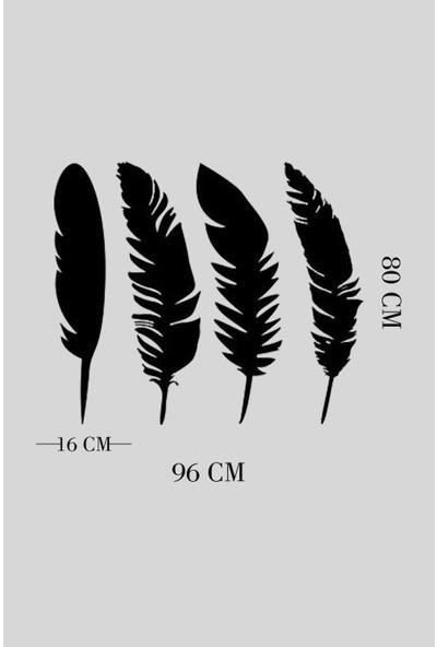 Alfagama Moden Ahşap Kuş Tüyleri Tablosu