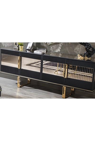 Yıldız Mobilya Cavalli Luxury Siyah Konsol
