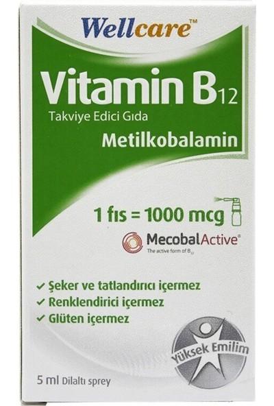 Wellcare Vitamin B12 Sprey 5 ml