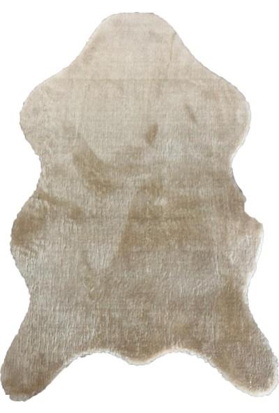 Balat Halı Kalın Kahverengi Peluş Post Halı