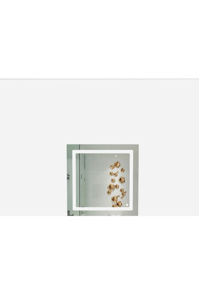 Camex Kare Led Işıklı Dekoratif Duvar Aynası