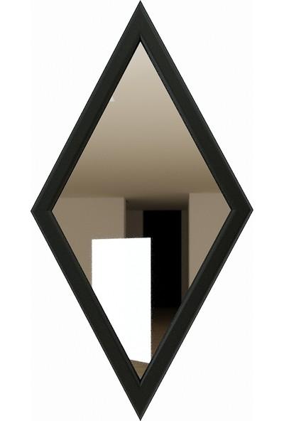 Camex Baklava Dilim Antrasit Çerçeveli Dekoratif Ayna