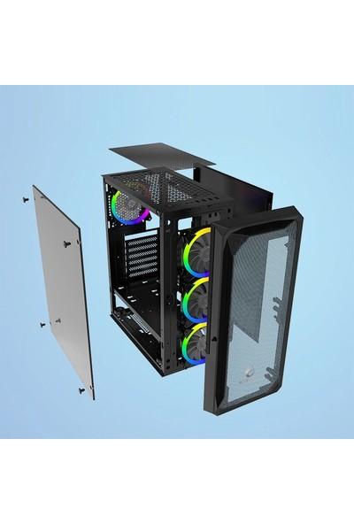 Gametech Velar RGB 4 x 120 mm Fan Oyuncu Bilgisayar Kasası