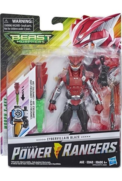 Hasbro Power Ranger Beast Morphers Figür Beast x Cybervillain Blaze Ranger