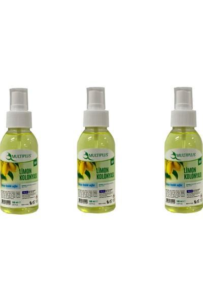 Multiplus Sprey Limon Kolonyası 100 ml 3'lü