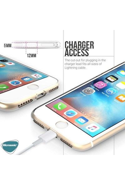 Microsonic Apple iPhone Se 2020 Kılıf Transparent Soft Beyaz
