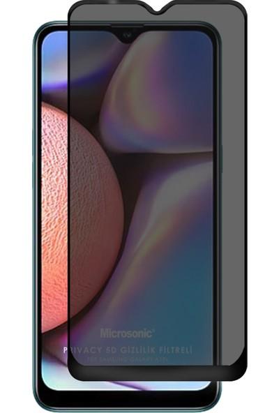 Microsonic Samsung Galaxy A10S Privacy 5D Gizlilik Filtreli Cam Ekran Koruyucu Siyah