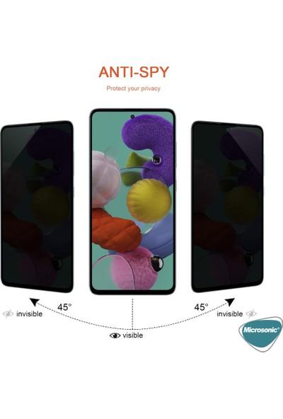 Microsonic Samsung Galaxy A51 Privacy 5D Gizlilik Filtreli Cam Ekran Koruyucu Siyah
