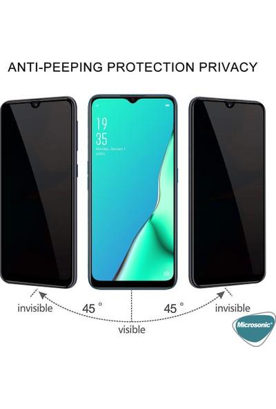 Microsonic Oppo A9 2020 Privacy 5D Gizlilik Filtreli Cam Ekran Koruyucu Siyah