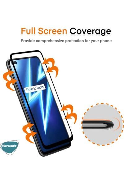 Microsonic Realme 6 Pro Tam Kaplayan Temperli Cam Ekran Koruyucu Siyah