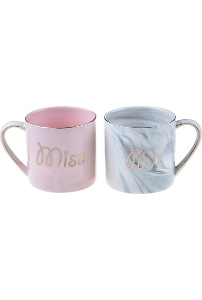Bambum Aika - Mr & Mrs 2'li Porselen Kupa
