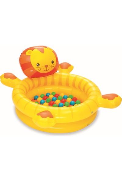 Bestway BW52261 Şişme Tabanlı Top ve Oyun Havuzu Aslan - 50 Adet Top Hediyeli