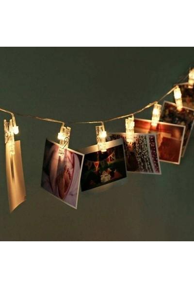 Aksesu Art Mandallı Led 20'li Fotoğraf Askısı