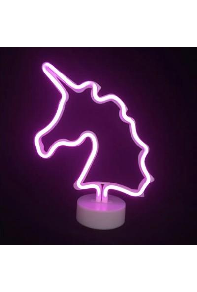 Aksesu Art Dekoratif Unicorn Neon Led Lamba