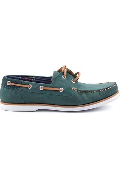 Grotto G11504111V26 Yeşil Nubuk Deri Erkek Ayakkabı