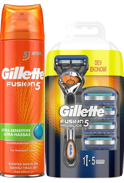 Fusion Proglide Fırsat Paketi – Fusion Makine + 4 Bıçak + Fusion 200 ml Jel