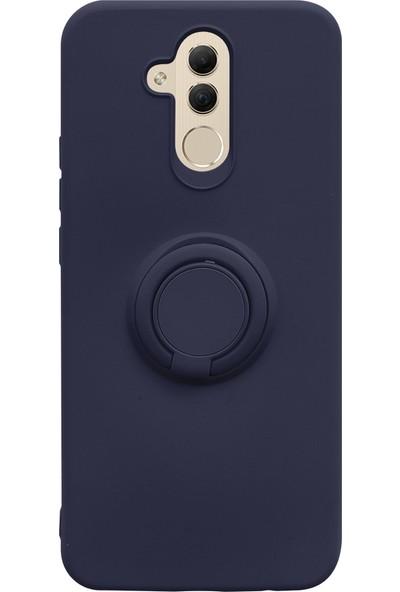 Case Markt Huawei Mate 20 Lite Yüzüklü Standlı Silikon Telefon Kılıfı