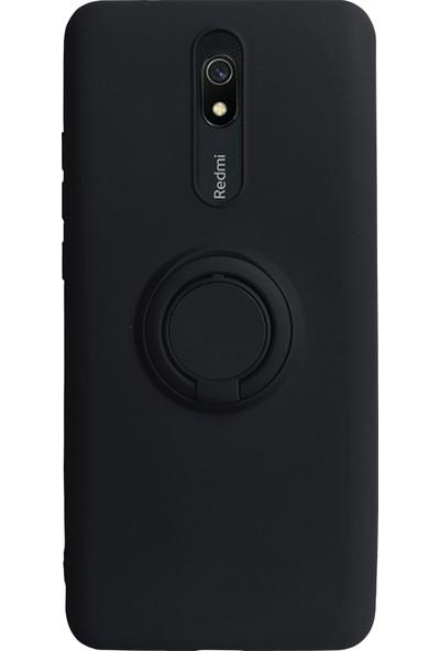 Case Markt Xiaomi Redmi 8 Yüzüklü Standlı Silikon Telefon Kılıfı