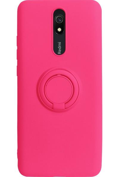 Case Markt Xiaomi Redmi 8A Yüzüklü Standlı Silikon Telefon Kılıfı