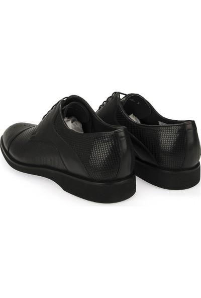 Ziya Erkek Deri Ayakkabı 101415 686181 Siyah
