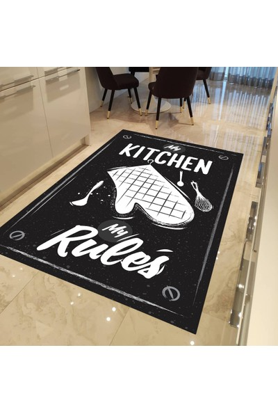 My Kitchen Kaymaz Tabanlı Mutfak Halısı