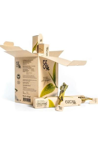 Özçay Iki Buçuk Yaprak Organik Yeşil Çay 16'lı