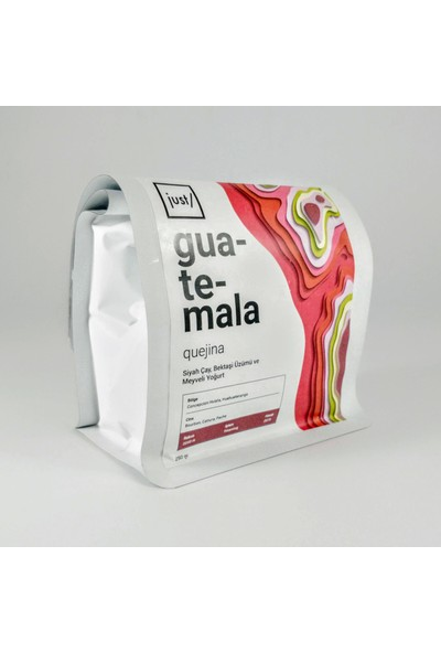 Just Guatemala Quejina Single Origin %100 Arabica Kavrulmuş Çekirdek Kahve 250 gr