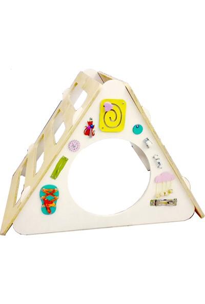 Kajuu Kids Tırmanma Üçgeni Pikler Triangle + Beceri Tahtası + Kaydırak